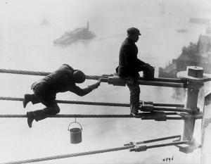 Queensboro Bridge, NY, under construction, 1907