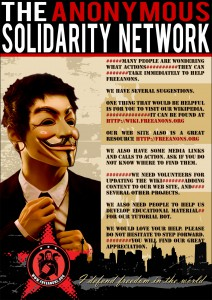 Poster The Anonymous Solidarity Network