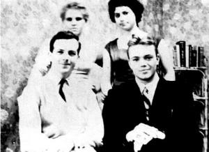 Oswald in Minsk with friends