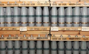 105 millimeter shells containing chemical weapons, part of US chemical stockpile.