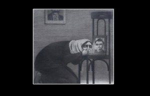 "Painting by Abdelke ""The Martyr's Mother 2"""