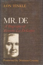 CAPTION: Shadowy image of Everette DeGolyer on the cover of his biography by Lon Tinkle