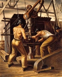 """Oil Rig Workers"" by Jerry Bywaters"