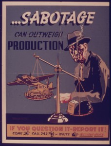 Sabotage, one of many OSS skills passed on to the CIA.
