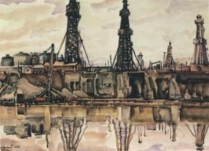 Baku Oil Rigs  by Konstantin Bogaevsky
