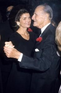 Prince Serge Obolensky and Jacqueline Kennedy Onassis, 1975