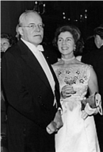 Allen Dulles and Jackie Kennedy's mother, Janet Auchincloss, October 1961