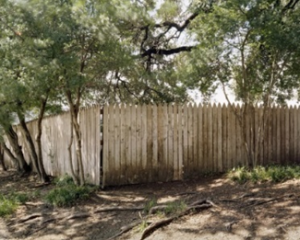 Fence on the grassy knoll. Photo by Joshua Dudley Greer
