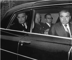 In the back seat, Lyndon Johnson, November 23, 1963