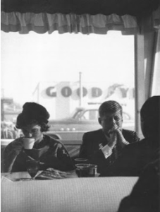 The Kennedys having coffee, unaware of what was brewing in Dallas.