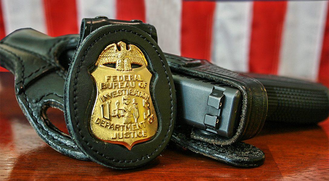 FBI, Badge, Gun