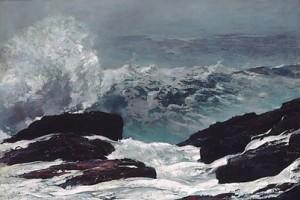 """Maine Coast"", by Winslow Homer, 1896"