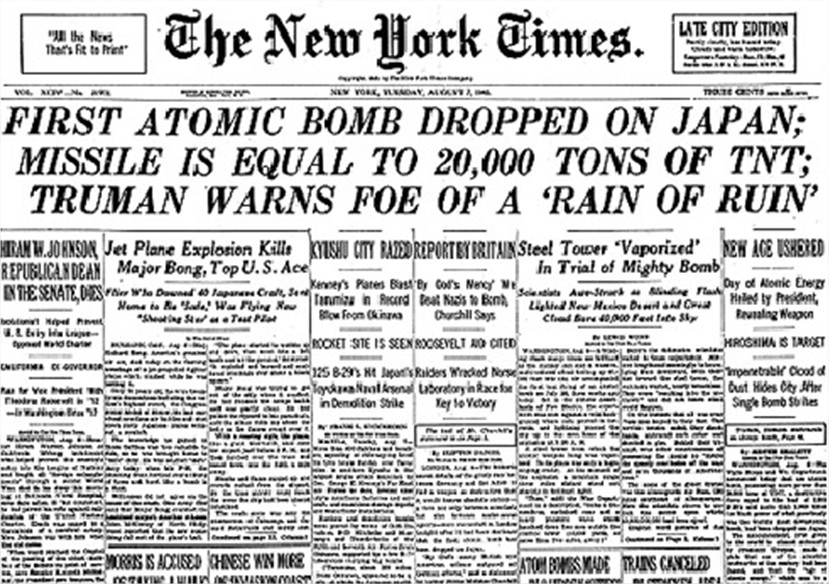 how the atomic bomb ended a war and signaled the beginning of the atomic age Atomic age in design refers to the period roughly after the use of the atomic bomb at the end of world war ii beginning with the dawn of the space age.