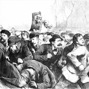 New York police attack unemployed workers in Tompkins Square, 1874