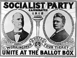 Presidential campaign poster for Eugene Debs, Socialist