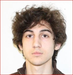 Dzhokhar Tsarnaev in an FBI handout photo.