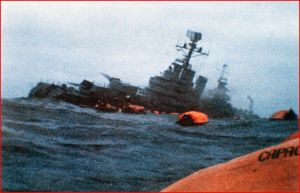 The Argentinian cruiser Belgrano. Its sinking by the British Navy in the 1982 Falklands War produced a landmark jury decision about whistleblowers.