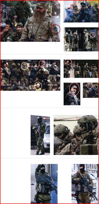 New York Times graphic showing alleged Russian soldiers