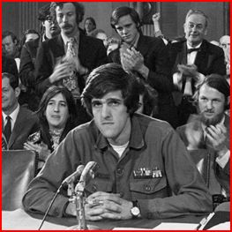 Secretary of State John Kerry testifies in the Senate in 1976. AP.