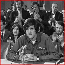 Secretary of State John Kerry testifies in the Senate in 1976. AP.