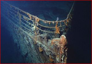 Wreck of the R.M.S. Titanic, discovered by Woods Hole Oceanographic Institution