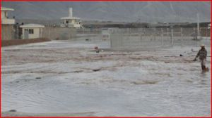 Flooding at the prison in April, 2012. Courtesy SIGAR.