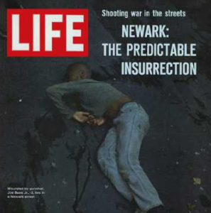Life magazine cover about the Newark Riots.