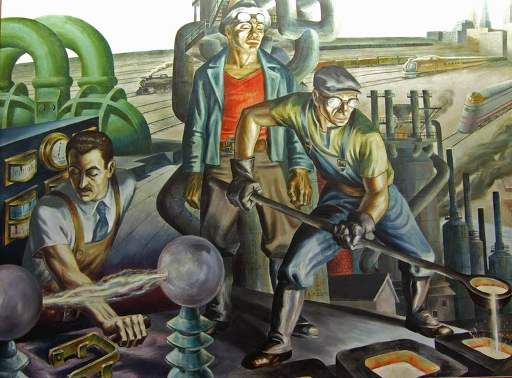 Labor day images from the great depression and the wpa for Chicago mural artist