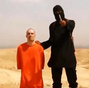 Screenshot of James Foley execution video