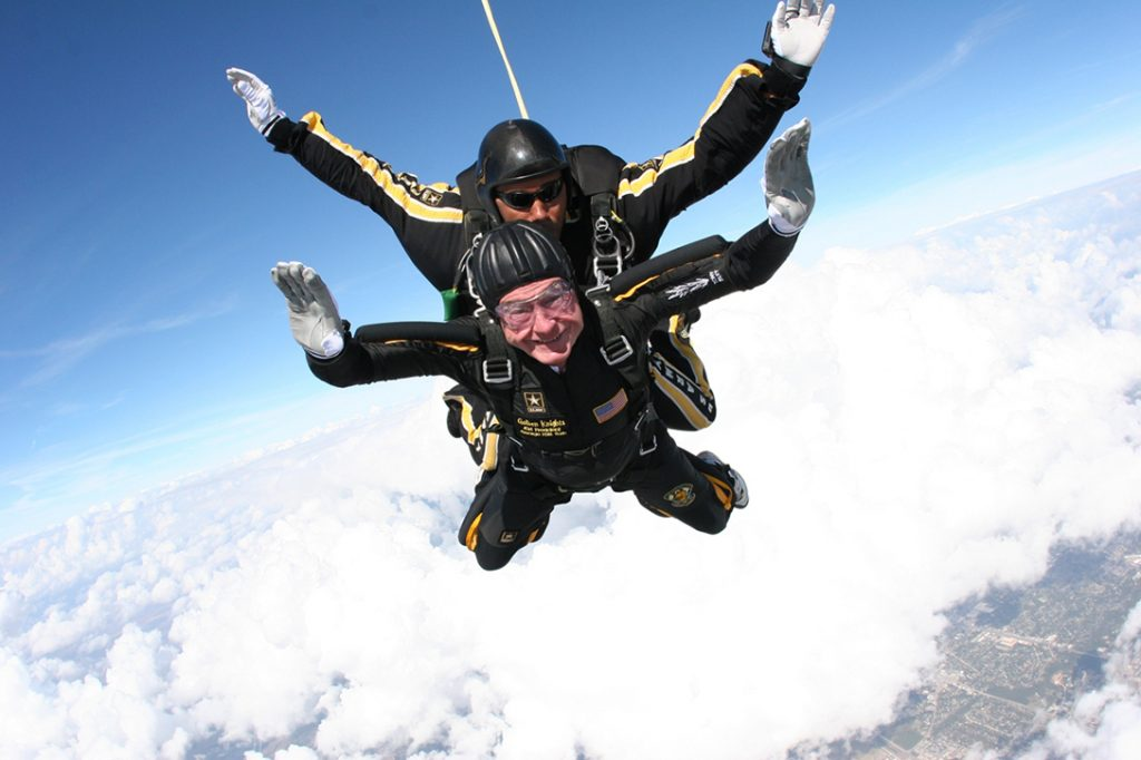 George H.W. Bush, skydiving