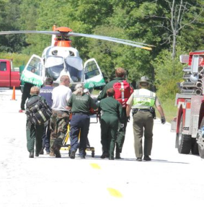 Rescuers prepare to fly ex-FBI Director Louis Freeh to the hospital