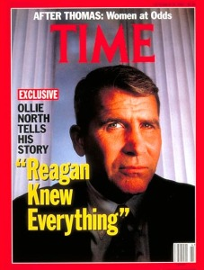 Time Magazine cover image of Oliver North tells his story