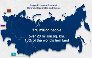Map of the EEU. Courtesy Eurasian Economic Commission.
