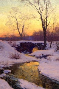 Painting by Walter Launt Palmer, American Impressionist