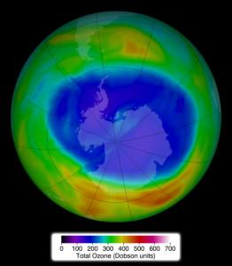 The hole in the ozone layer is greater in size than all the land mass of North America.
