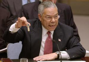 Colin Powell's famous speech about WMD at the UN