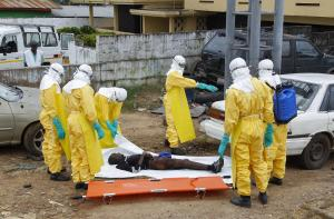 Ebola victim in Liberia. Courtesy EPA.