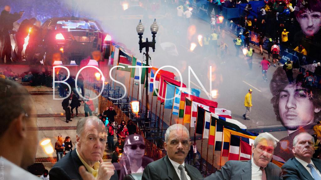 Photo collage of the Boston Marathon Bombing. By DonkeyHotey.