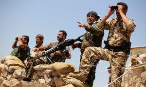 Kurdish pesh merga fighters.