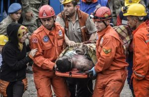 Mine work being carried away from Turkey's largest mining accident.