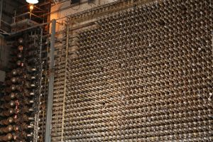 "Some of the more than 2,000 tubes used to process uranium at Hanford's ""B"" reactor. By Paul DeRienzo."