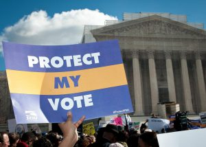 Protect the Voting Rights Act rally at the SCOTUS, February 27, 2013 (David Sachs / SEIU / Creative Commons license)
