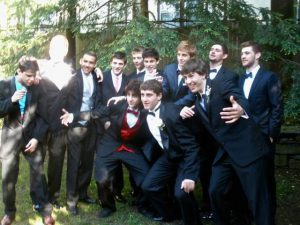Dzhokhar Tsarnaev and his friends before his prom.
