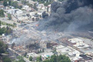 Lac-Megantic after the crude oil train derailment that killed 47.</body></html>