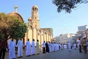 Muslims protecting church in Egypt, date unknown.