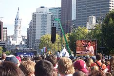 A 2008 voter registration rally in Philadelphia.