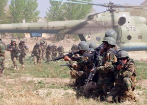 Afghan security forces on the ground.