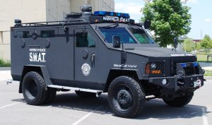 Lenco BearCat Armored police carrier used in Nashville. Photo credit: Wikimedia Foundation.