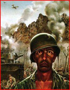 """""""That 2000-Yard Stare."""" Tom Lea. WW II"""