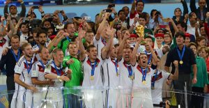Corruption charges and reports of inhumane working conditions leading up to the 2018 and 2022 World Cup events may undercut the cheering at these international soccer showcases. Photo credit: Wikimedia Foundation.